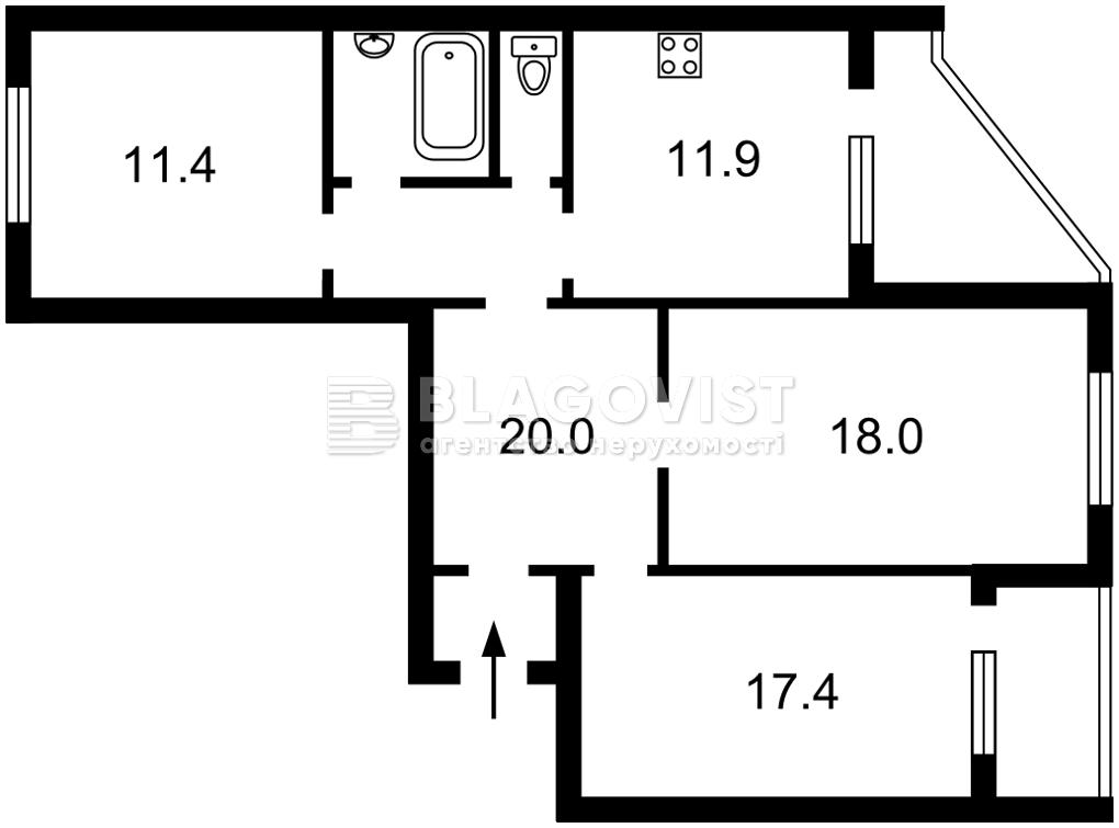 Квартира M-39377, Тимошенко Маршала, 15г, Киев - Фото 6
