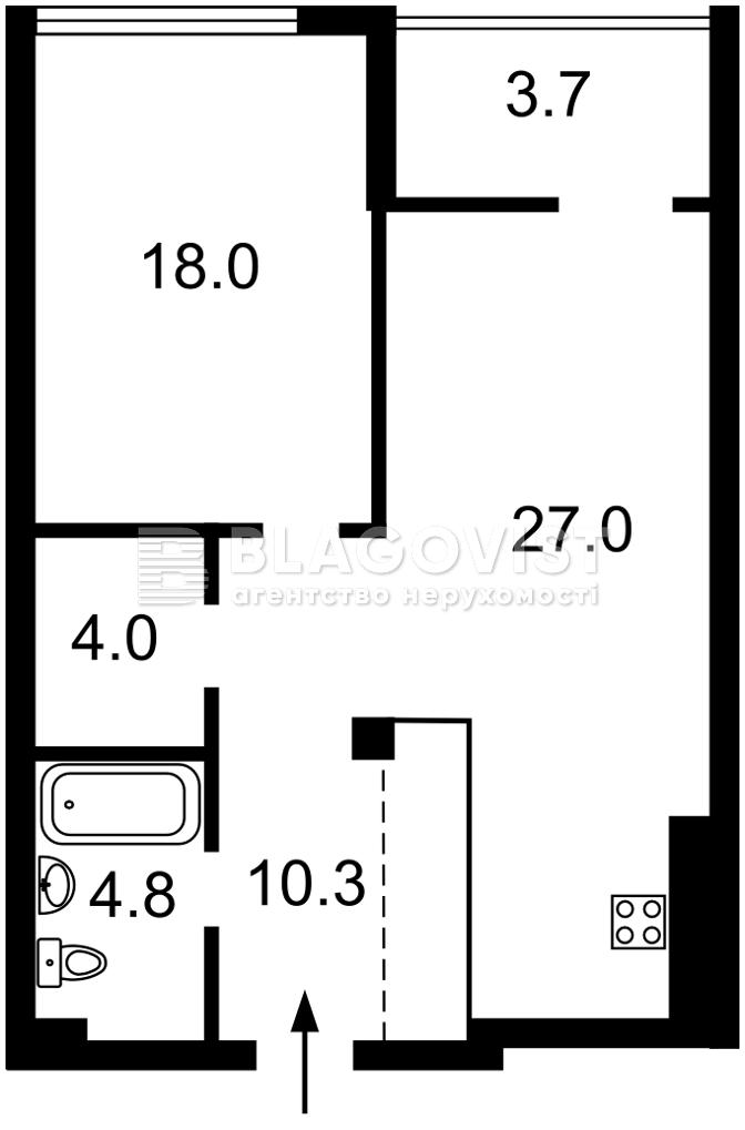 Квартира M-39353, Бойчука Михаила (Киквидзе), 41-43, Киев - Фото 6