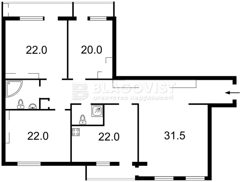 Квартира M-39395, Героев Сталинграда просп., 6, Киев - Фото 4
