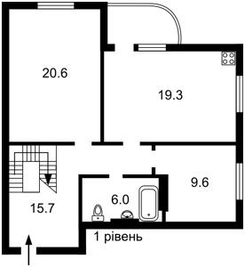 Квартира Кондратюка Юрия, 7, Киев, F-45356 - Фото 2
