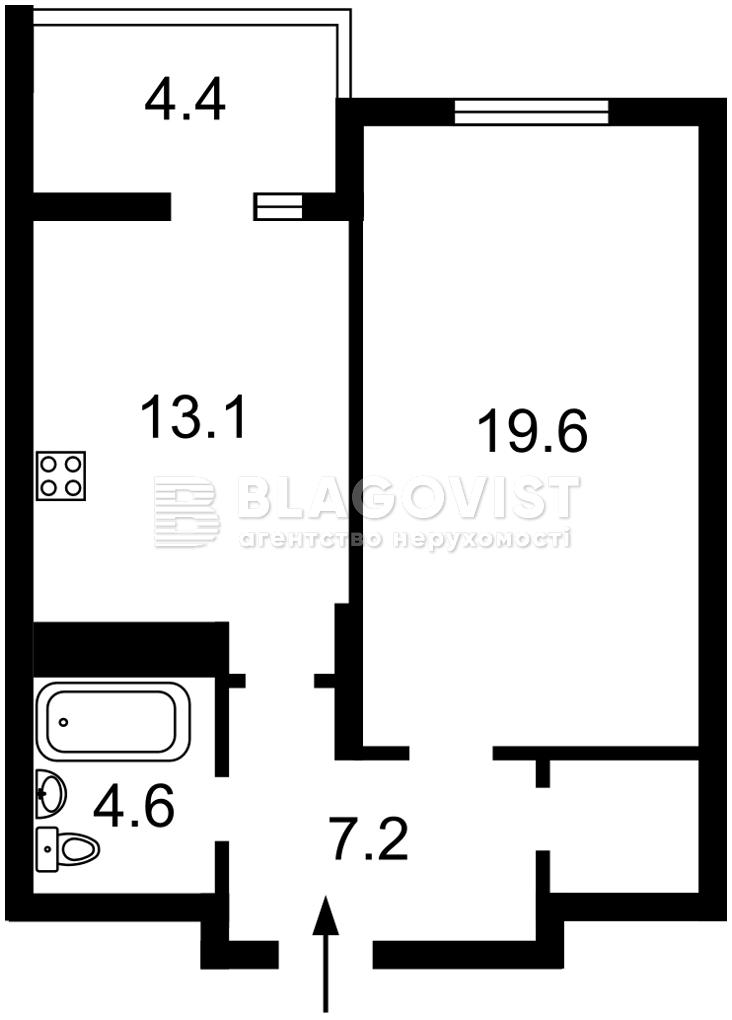 Квартира P-30080, Маланюка Евгения (Сагайдака Степана), 101 корпус 18-21, Киев - Фото 5