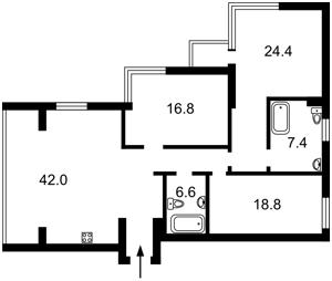 Квартира E-41537, Осокорская, 2а, Киев - Фото 5