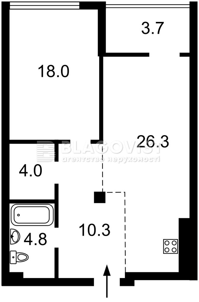 Квартира M-39444, Бойчука Михаила (Киквидзе), 41/43, Киев - Фото 6