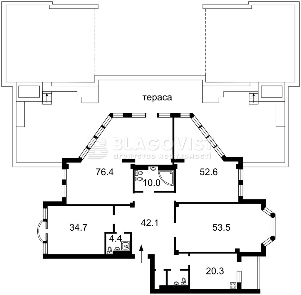 Квартира M-39455, Грушевского Михаила, 9а, Киев - Фото 5