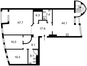 Квартира Коновальца Евгения (Щорса), 36б, Киев, R-40608 - Фото2