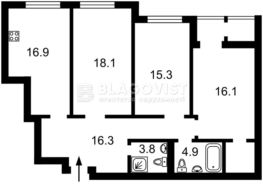 Квартира P-30097, Тверской тупик, 7б, Киев - Фото 7