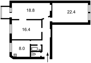 Квартира Саксаганского, 42, Киев, Z-807739 - Фото 2
