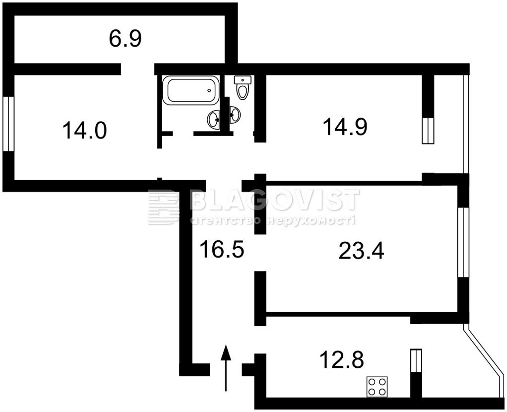 Квартира Z-806779, Григоренко Петра просп., 26а, Киев - Фото 4