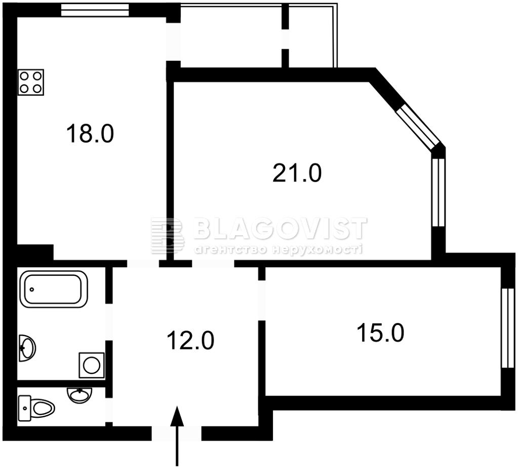 Квартира M-39446, Генерала Алмазова (Кутузова), 18/7, Киев - Фото 5