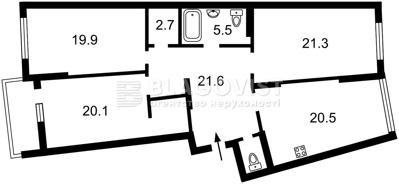 Квартира D-35299, Тютюнника Василия (Барбюса Анри), 28а, Киев - Фото 4