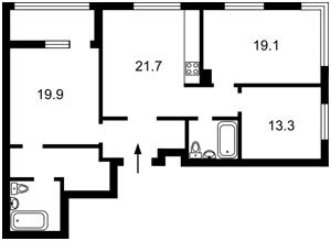 Квартира Салютная, 2-3, Киев, Z-797280 - Фото2