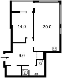 Квартира Антоновича (Горького), 44, Київ, H-50457 - Фото 2