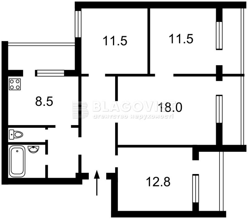Квартира A-112604, Оболонский просп., 38, Киев - Фото 3