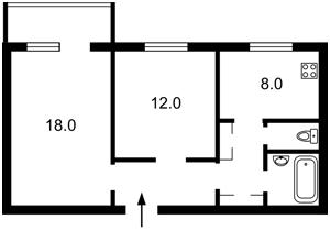 Квартира Лаврухіна, 15/46, Київ, Z-809597 - Фото 2