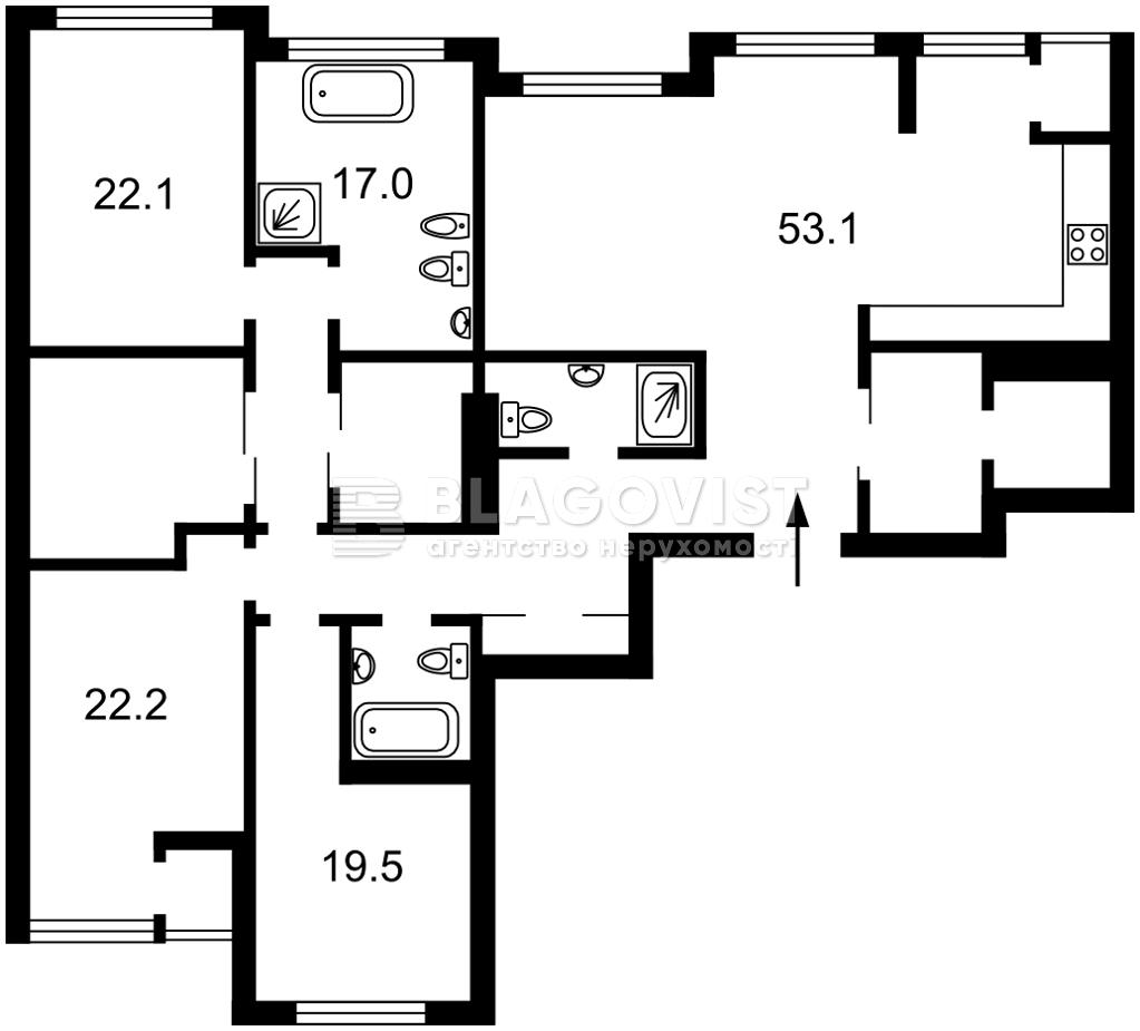 Квартира H-45685, Драгомирова Михаила, 15а, Киев - Фото 5