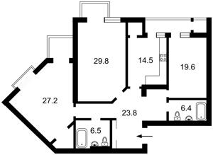 Квартира Коновальця Євгена (Щорса), 44а, Київ, Z-789177 - Фото 2