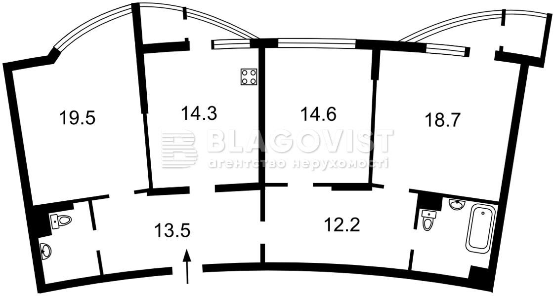 Квартира A-112623, Днепровская наб., 23, Киев - Фото 6