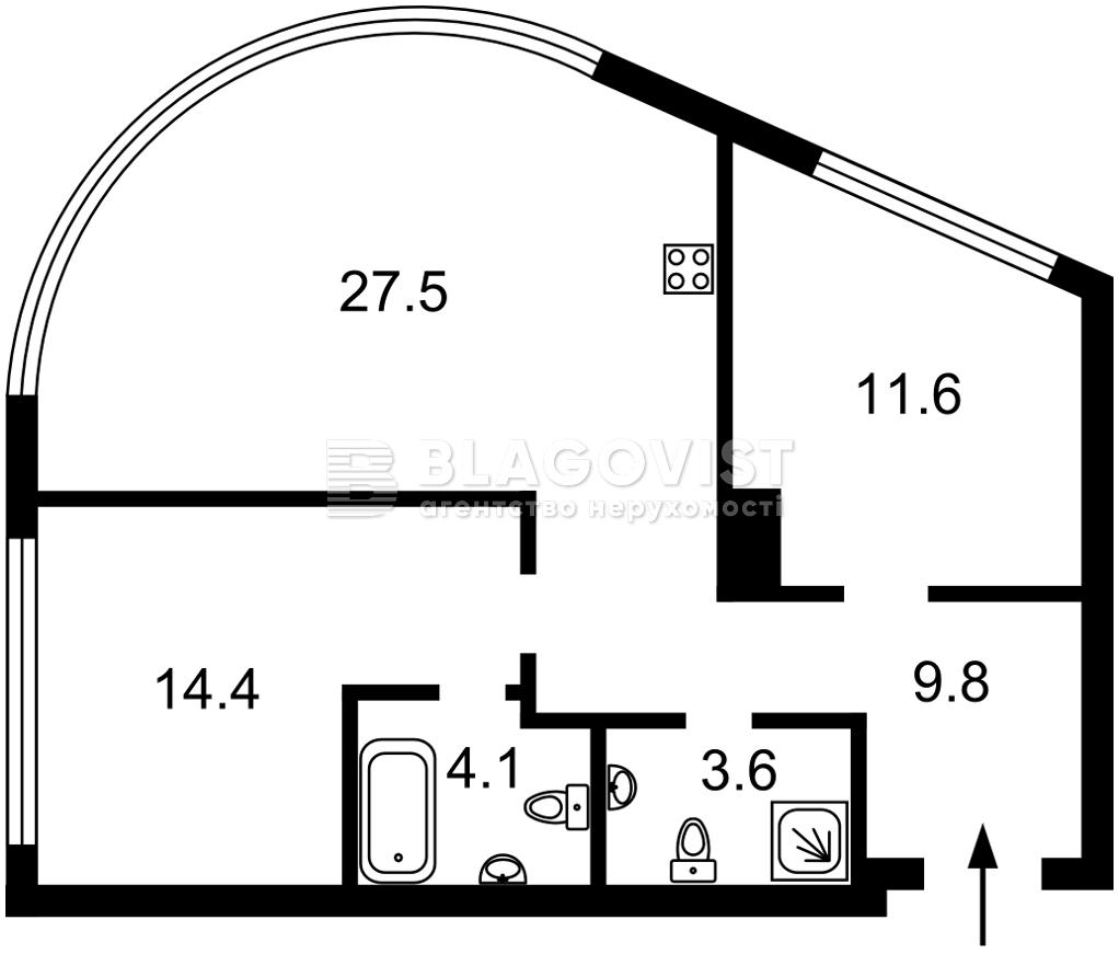 Квартира M-39573, Васильковская, 1/2, Киев - Фото 2