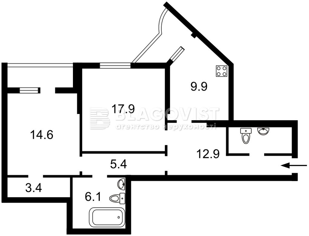 Квартира H-50747, Руданского Степана, 3а, Киев - Фото 6
