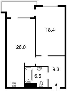 Квартира Голосіївський проспект (40-річчя Жовтня просп.), 58, Київ, F-45416 - Фото 2