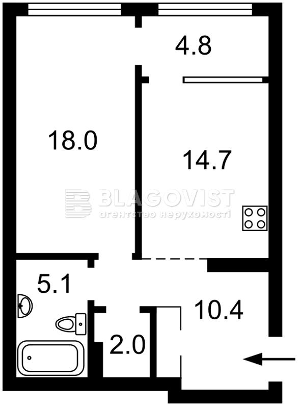 Квартира Z-810119, Причальная, 5 корпус 4, Киев - Фото 2
