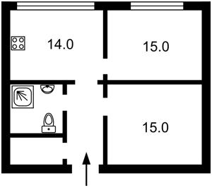 Квартира Маланюка Євгена (Сагайдака Степана), 101 корпус 18-21, Київ, F-45373 - Фото 2