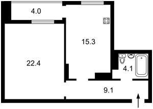 Квартира Маккейна Джона (Кудрі Івана), 26, Київ, Z-812618 - Фото 2