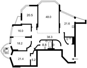 Квартира Коновальца Евгения (Щорса), 36в, Киев, H-50733 - Фото 2