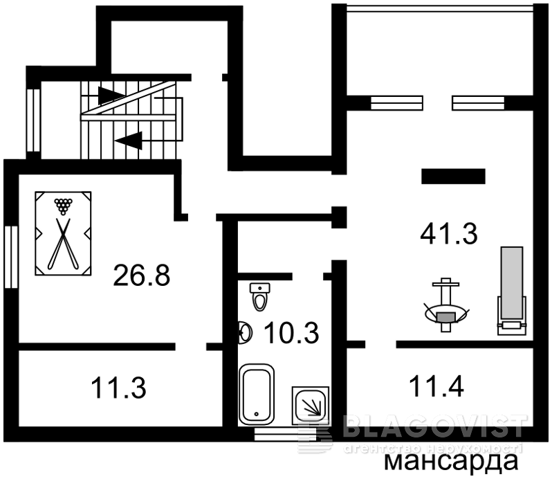 Дом F-40687, 14-й переулок, Гостомель - Фото 8