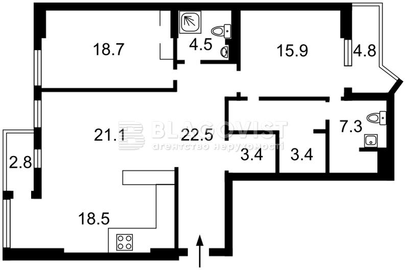 Квартира H-43769, Джона Маккейна (Кудри Ивана), 26, Киев - Фото 6