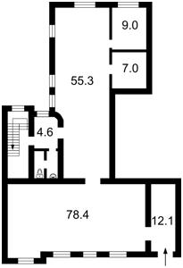 Нежилое помещение, Бульварно-Кудрявская (Воровского) , Киев, Z-1165185 - Фото2