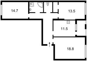 Квартира Регенераторная, 4 корпус 1, Киев, Z-537215 - Фото2