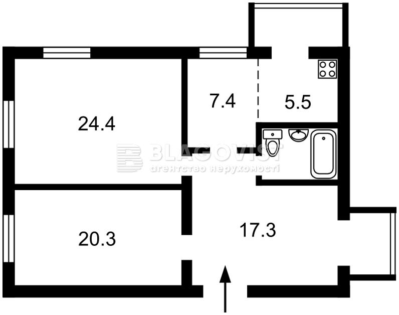 Нежилое помещение, M-35475, Институтская, Киев - Фото 1