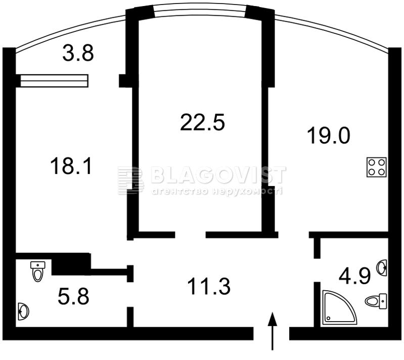 Квартира R-27913, Максимовича Михаила (Трутенко Онуфрия), 3г, Киев - Фото 6