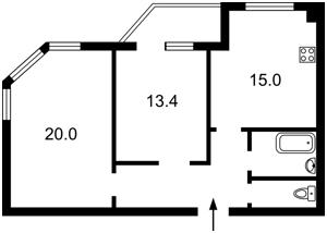 Квартира Счастливая, 50, Софиевская Борщаговка, H-45181 - Фото2