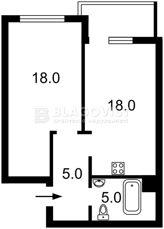 Квартира C-106909, Джона Маккейна (Кудри Ивана), 7, Киев - Фото 5