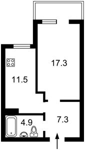 Квартира Комарова Космонавта просп., 20а, Киев, Z-583241 - Фото2