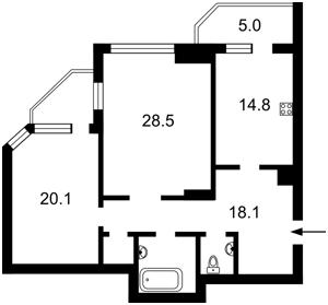 Квартира Черновола Вячеслава, 20, Киев, R-30393 - Фото 2
