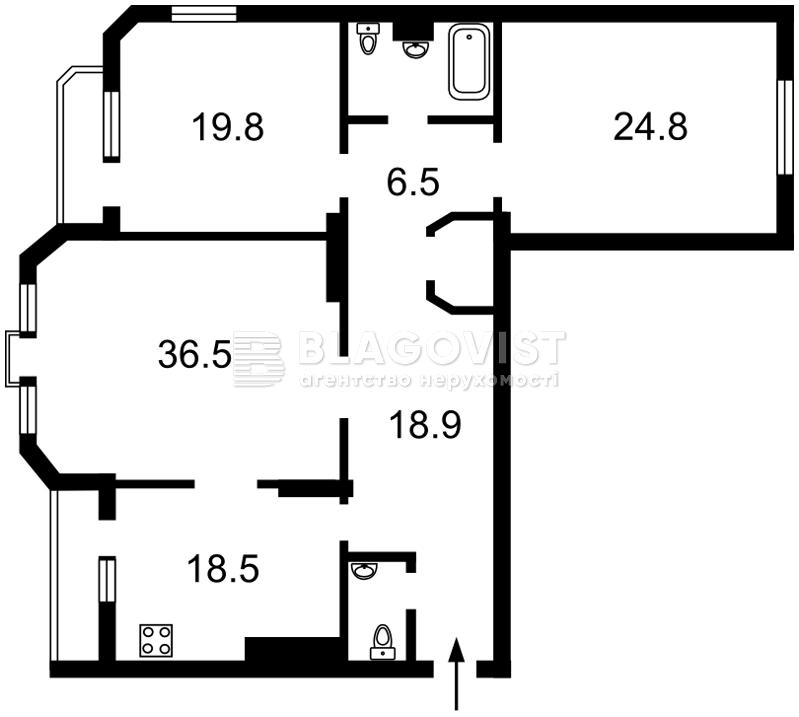 Квартира C-107086, Коновальца Евгения (Щорса), 32б, Киев - Фото 6
