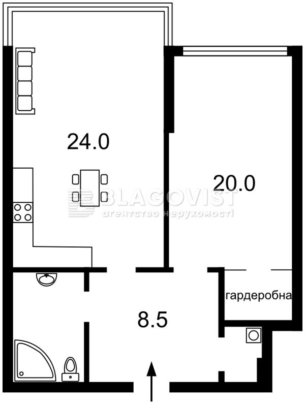 Квартира A-110480, Дніпровська наб., 14, Київ - Фото 6