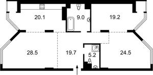 Квартира Болсуновская (Струтинского Сергея), 2, Киев, Z-613462 - Фото2