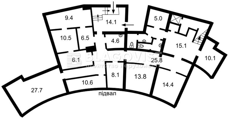 Нежилое помещение, E-39127, Гоголевская, Киев - Фото 3