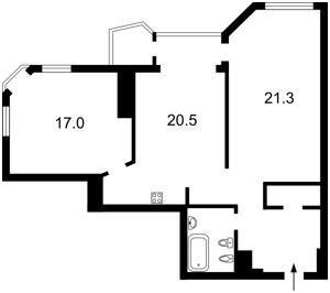 Квартира Кудряшова, 20б, Київ, Z-491101 - Фото2