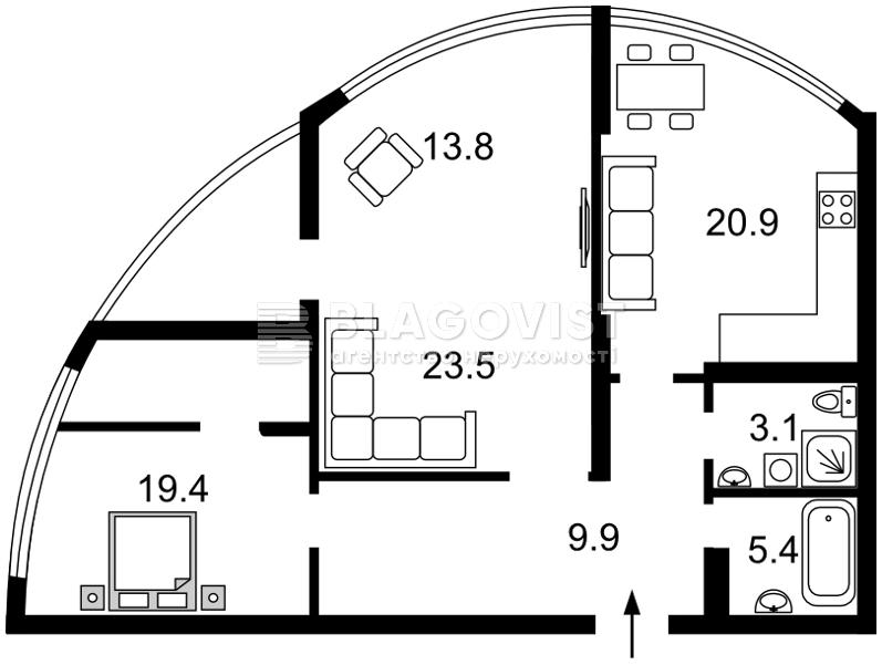 Квартира D-35907, Лобановского просп. (Краснозвездный просп.), 150, Киев - Фото 5