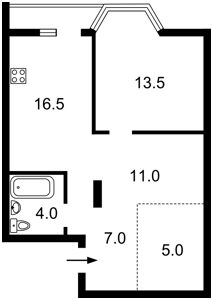 Квартира Липкивского Василия (Урицкого), 37б, Киев, C-107322 - Фото2