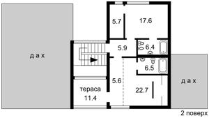 Дом C-107524, Лебедевка (Вышгородский) - Фото 4