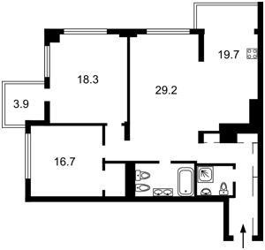 Квартира Драгомирова Михаила, 7, Киев, R-32642 - Фото2