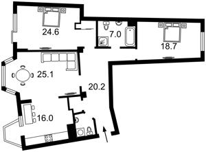 Квартира Ломоносова, 73в, Киев, E-39510 - Фото 2