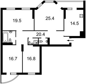 Квартира Никольско-Слободская, 2в, Киев, Z-665026 - Фото2