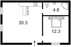 Квартира Хмельницкого Богдана, 35/1, Киев, I-10626 - Фото2